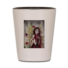 Scarlet Fairy Fantasy Art Shot Glass