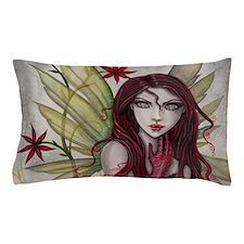 Scarlet Fairy Fantasy Art Pillow Case