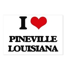 I love Pineville Louisian Postcards (Package of 8)