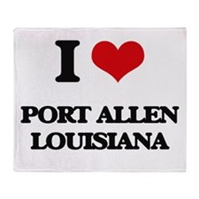 I love Port Allen Louisiana Throw Blanket