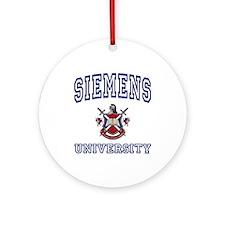 SIEMENS University Ornament (Round)