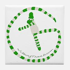 Wilbury Travels Geocaching Logo Tile Coaster