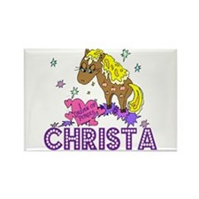 I Dream Of Ponies Christa Rectangle Magnet