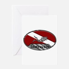 Dive Instructor (Oval) Greeting Card