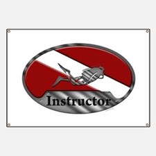 Dive Instructor (Oval) Banner
