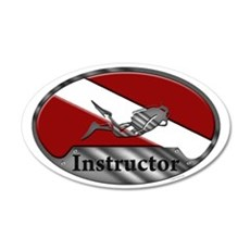 Dive Instructor (Oval) Wall Decal