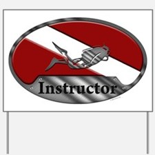 Dive Instructor (Oval) Yard Sign