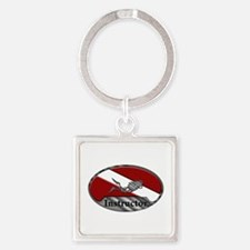 Dive Instructor (Oval) Square Keychain