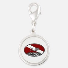 Dive Instructor (Oval) Silver Round Charm