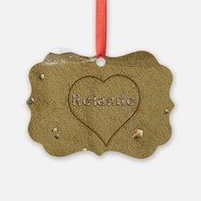 Rolando Beach Love Ornament