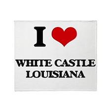 I love White Castle Louisiana Throw Blanket