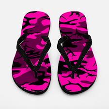 Alien Pink Camo Flip Flops