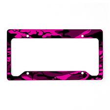 Alien Pink Camo License Plate Holder