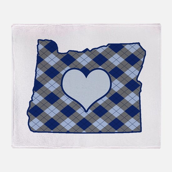 Funny I heart oregon Throw Blanket