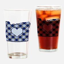 Unique Oregon love Drinking Glass
