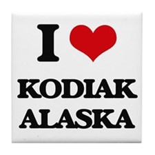 I love Kodiak Alaska Tile Coaster