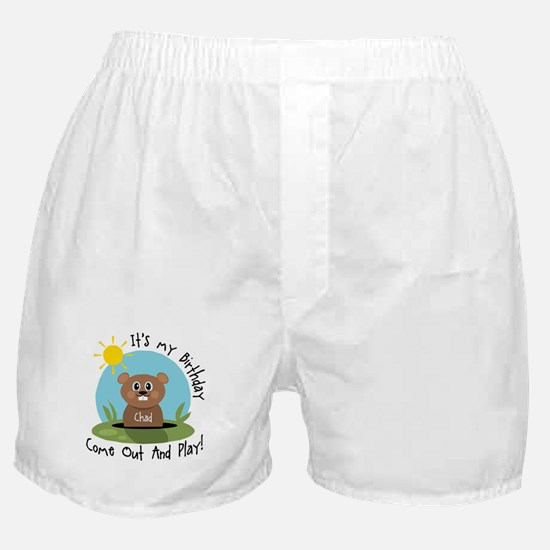 Chad birthday (groundhog) Boxer Shorts