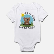 Chad birthday (groundhog) Infant Bodysuit