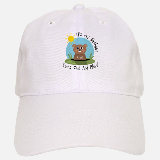 Chad birthday (groundhog) Baseball Baseball Cap