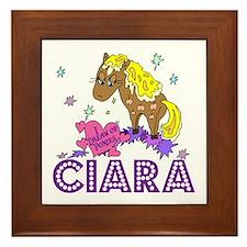 I Dream Of Ponies Ciara Framed Tile