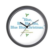 blue christmas by the King Wall Clock