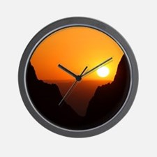 Sunset at the Window Wall Clock