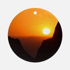Sunset at the Window Ornament (Round)