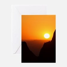 Sunset at the Window Greeting Cards
