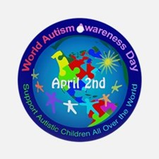 World Autism Awareness Day Ornament (Round)