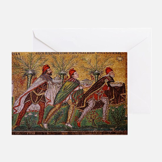 The Three Magi - A Byzantine mosaic Greeting Card