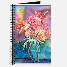Flowers in vase, still life art Journal