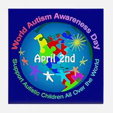 World Autism Awareness Day Tile Coaster
