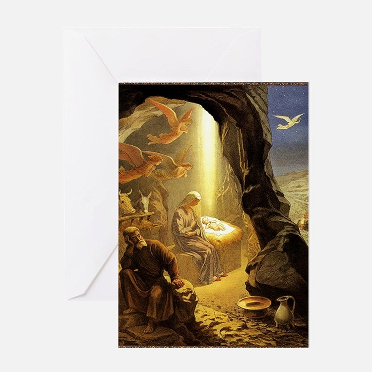 Christmas by Grigory Gegarin Greeting Card