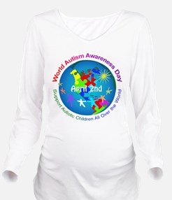World Autism Awarene Long Sleeve Maternity T-Shirt
