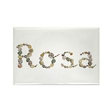 Rosa Seashells Rectangle Magnet