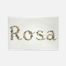 Rosa Seashells Rectangle Magnet