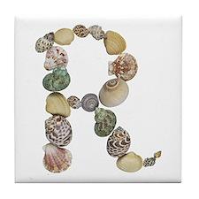 R Seashells Tile Coaster