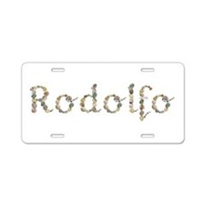 Rodolfo Seashells Aluminum License Plate