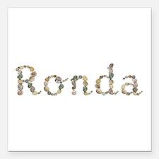 Ronda Seashells Square Car Magnet
