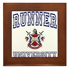 RUNNER University Framed Tile