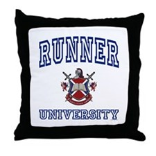 RUNNER University Throw Pillow