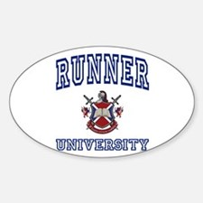 RUNNER University Oval Decal