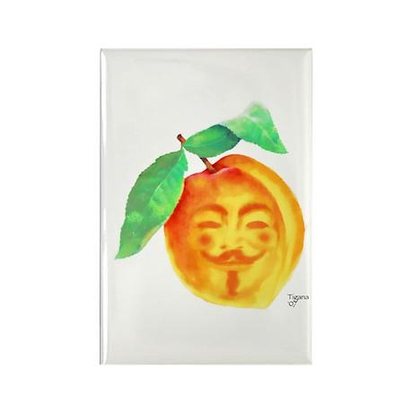 V Peach Rectangle Magnet