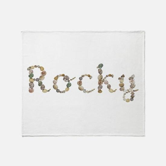 Rocky Seashells Throw Blanket