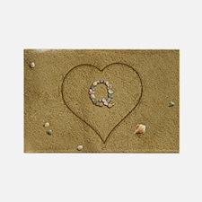 Q Beach Love Rectangle Magnet