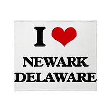 I love Newark Delaware Throw Blanket
