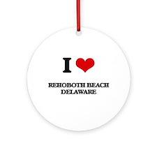 I love Rehoboth Beach Delaware Ornament (Round)