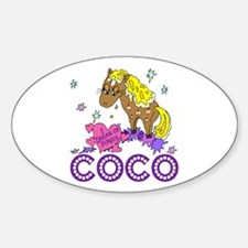 I Dream Of Ponies Coco Oval Decal