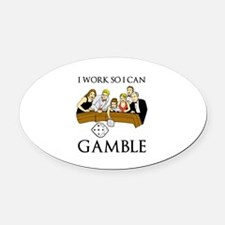Gamble Oval Car Magnet