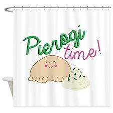 Pierogi Time Shower Curtain